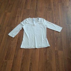 Cream Long Sleeve Danskin T-Shirt